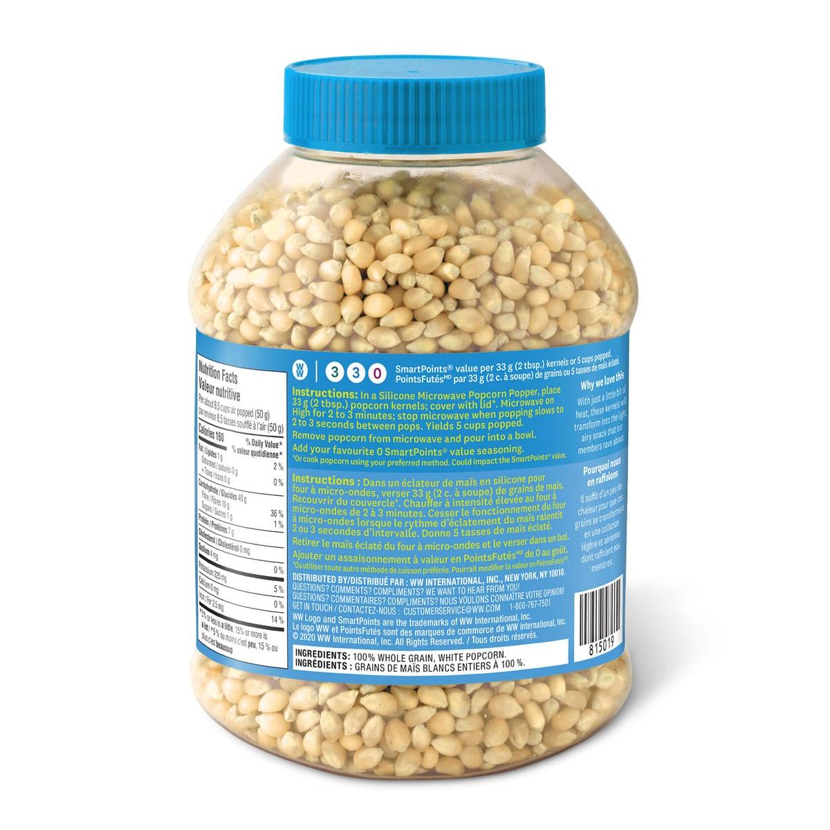 Premium white popcorn kernels - back