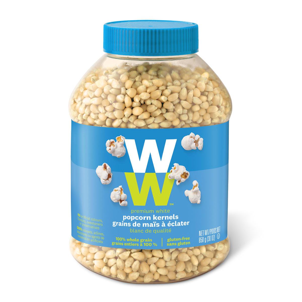 Premium white popcorn kernels