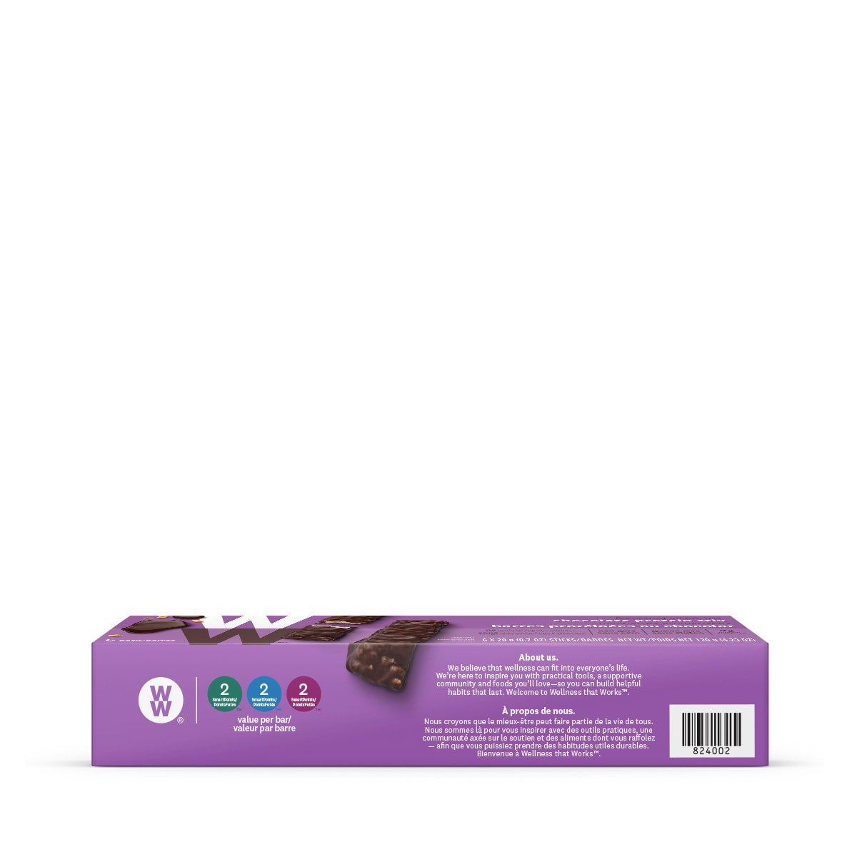 Chocolate Protein Stix - side 2 of the box