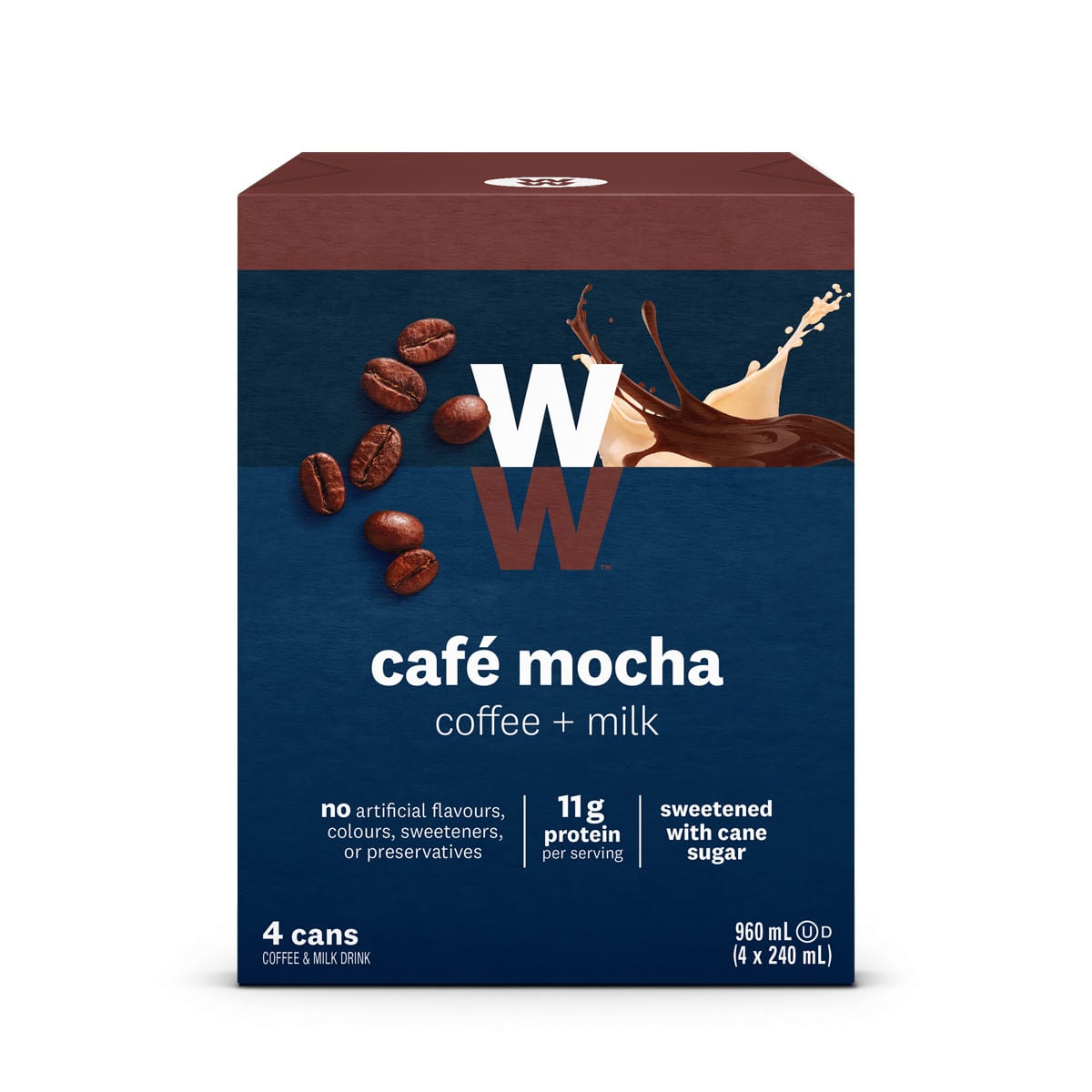 WW Cafe Mocha, Pack of 4 Cans