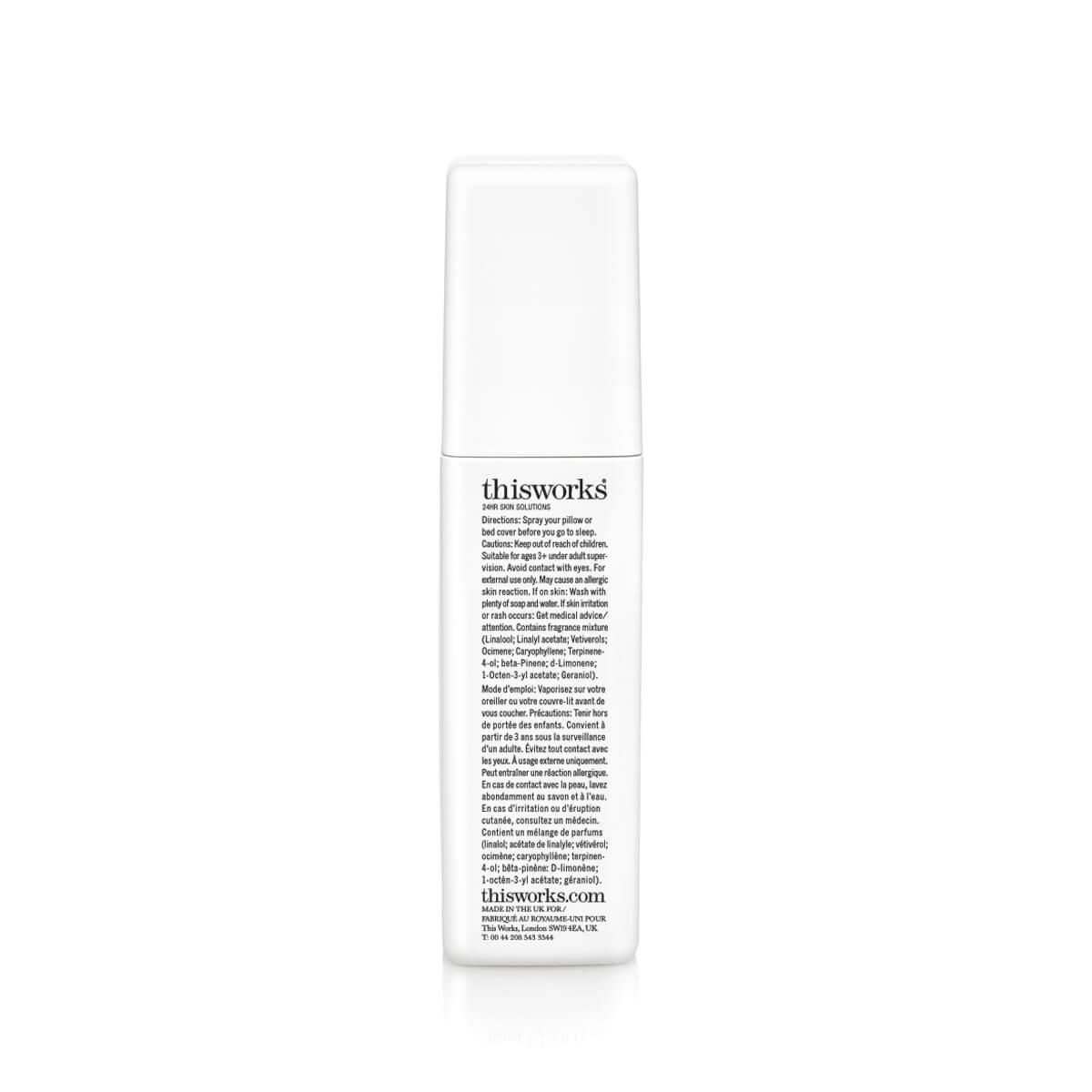 ThisWorks Deep Sleep Pillow Spray - back of spray bottle