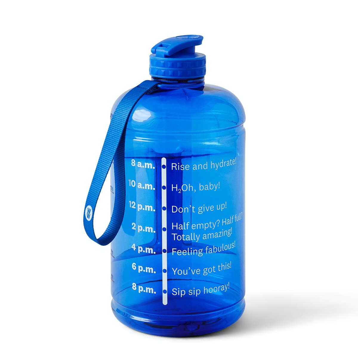 Half Gallon Water Bottle - front of bottle