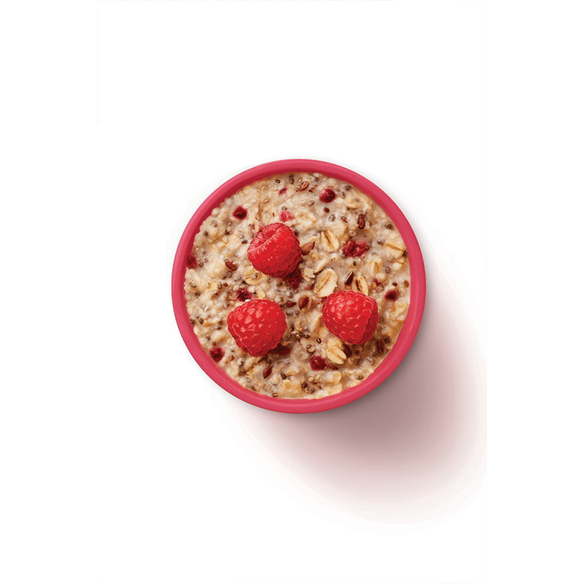 Chia Raspberry Porridge Food