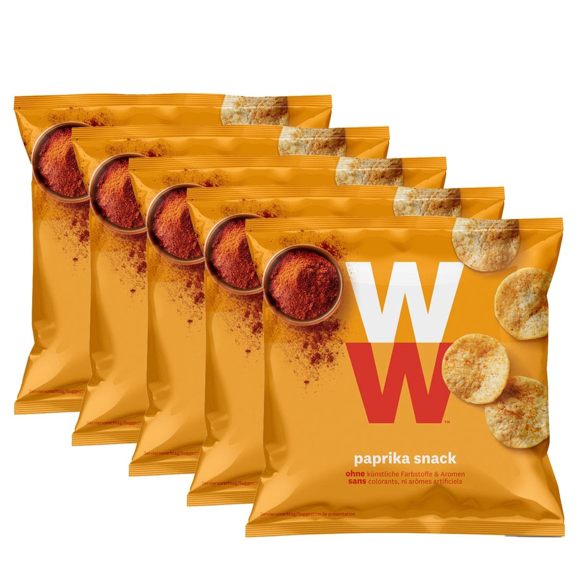 WW Paprika Chips 5er Pack