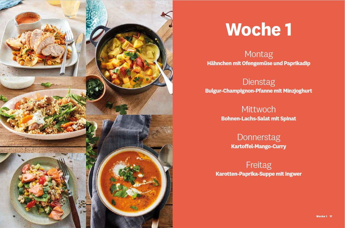 Blick ins Buch - Meal Prep - Opener Woche