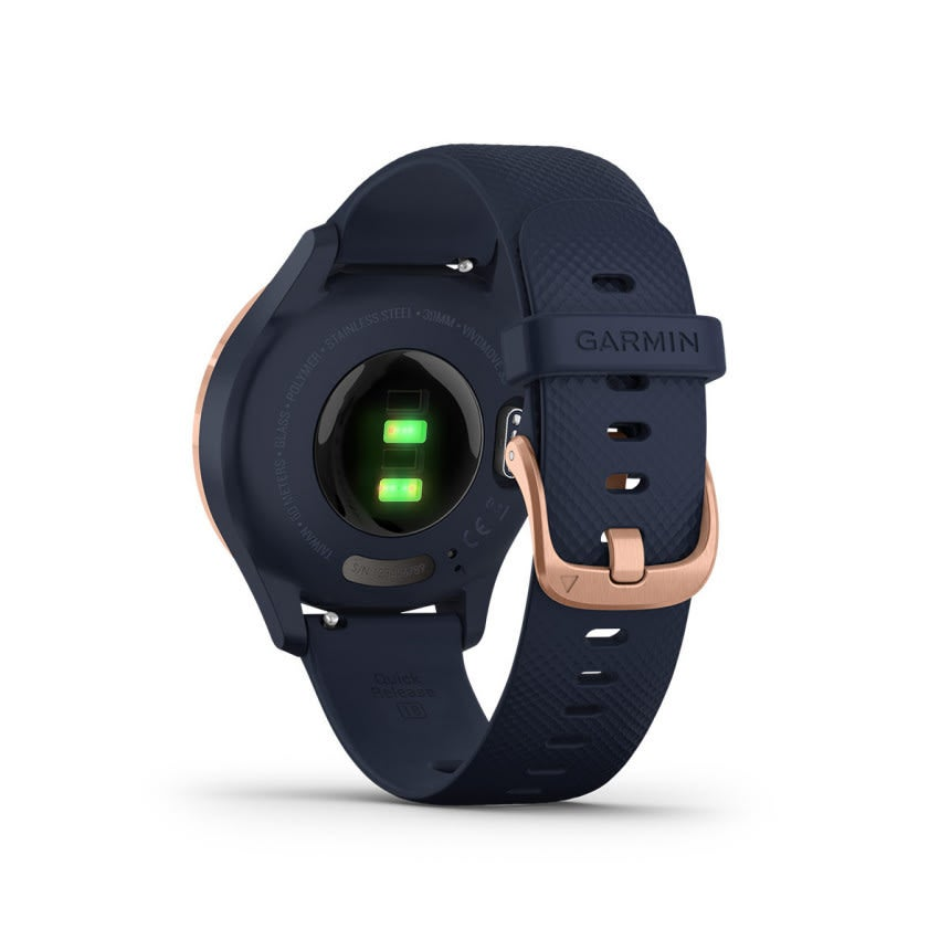 "Garmin Smart Watch ""vivomove 3S Sport"" (roségold-blau) hinten 4"
