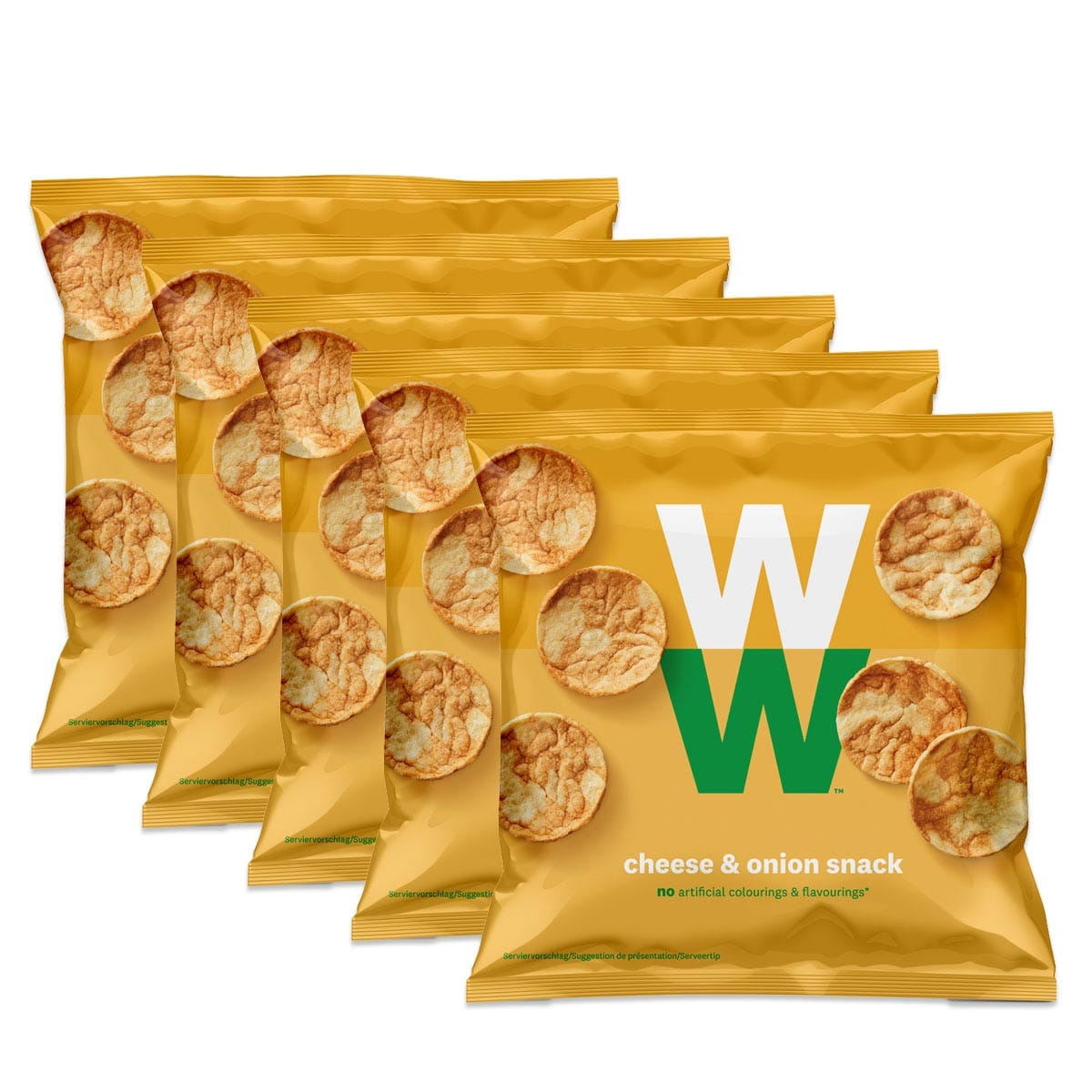 WW Käse & Zwiebel Chips 5er Pack