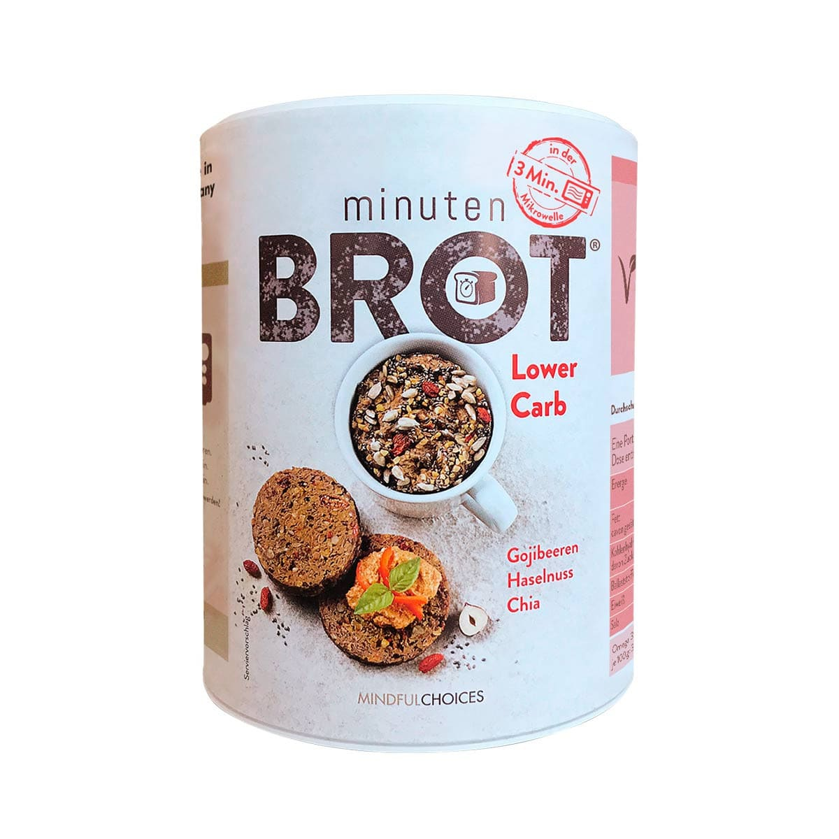 Minutenbrot® Lower Carb Front