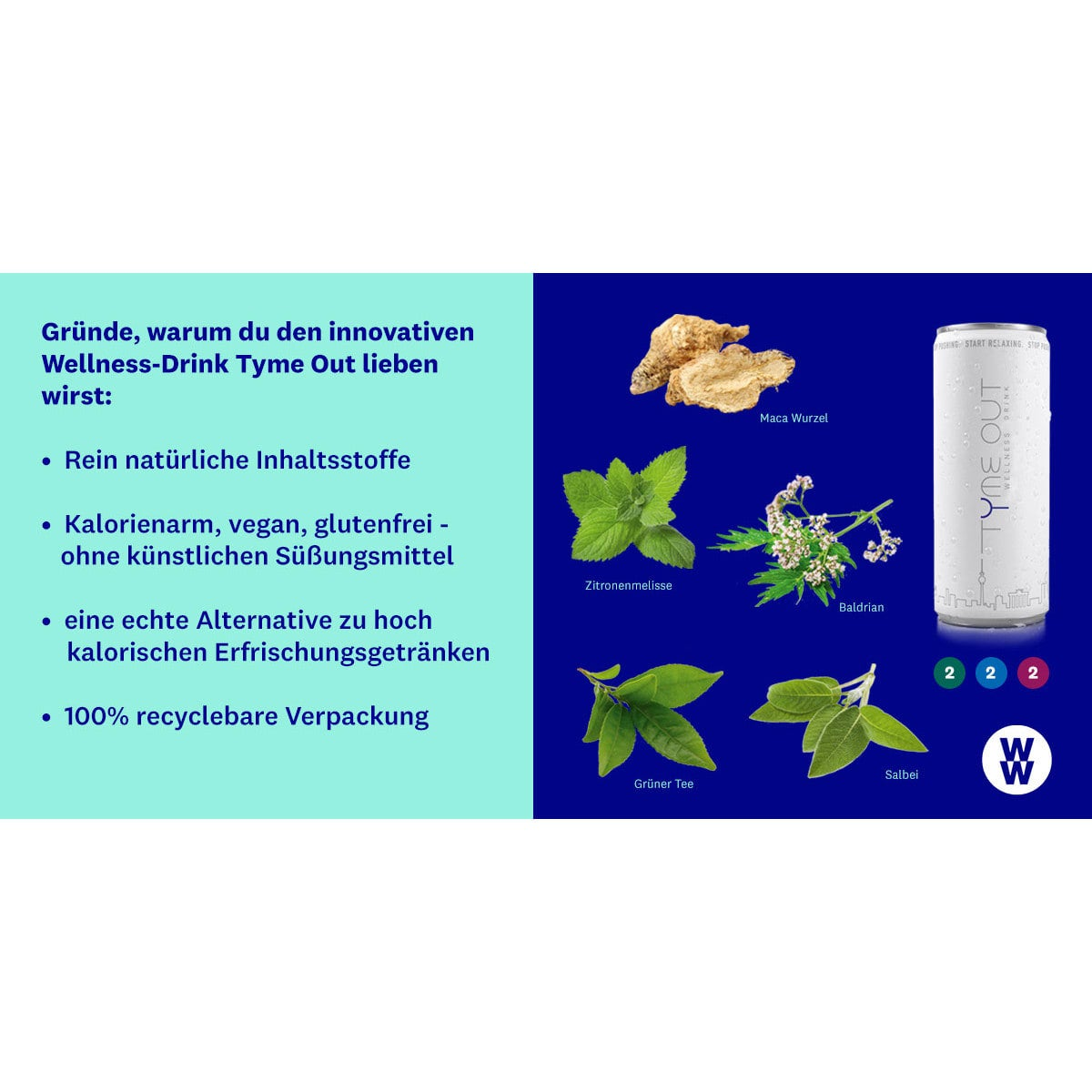 WW Tyme Out Wellness Drink 6er Pack 2