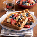 Whole Grain Waffles with Fruit