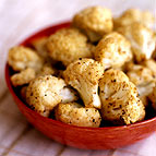 Roasted Cauliflower with Lemon, Garlic and Parsley