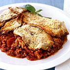 Greek Eggplant and Chicken Casserole