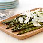 Roast Asparagus with Shaved Parmesan