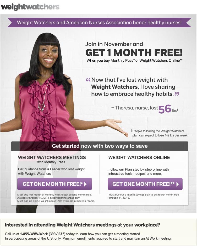 weight watchers online