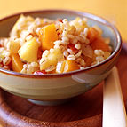 Barley with Butternut Squash Apple and Onions