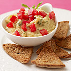 Lemon-Mint Chickpea Dip with Pita Chips