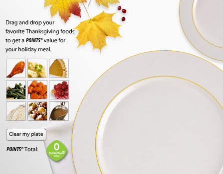 Image of Thanksgiving foods and dinner plate
