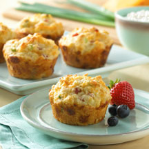Cottage Cheese Egg and Ham Muffins