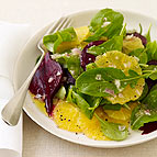 Orange Beet Arugula Salad