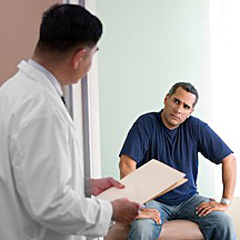 Man in doctor's office