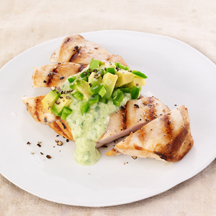 Grilled Chicken with Creamy Avocado Salsita