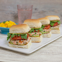 Salmon Brown Rice Sliders
