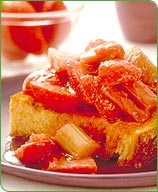 Photo of Rhubarb-strawberry shortcake by WW