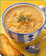 Photo of Split Pea Soup with Garlic Toasts by WW