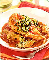 Photo of Chicken stewed with artichokes and tomatoes by WW