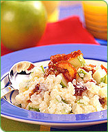 Photo of Creamy rice pudding with apples and dates by WW