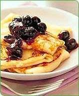 Photo of Blintzes with Blueberry Sauce by WW