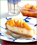 Photo of Ricotta cheesecake with fresh peaches by WW