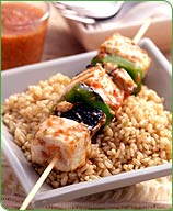 Photo of Halibut kebabs with spicy pepper sauce by WW