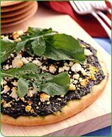 Photo of Basil, arugula and goat cheese pizza by WW