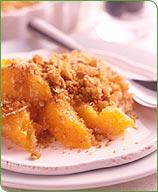 Photo of Oat-topped peach crisp by WW