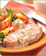 Photo of Grilled tuna with mustard-dill sauce by WW
