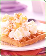 Photo of Creamy fruit-topped waffles by WW
