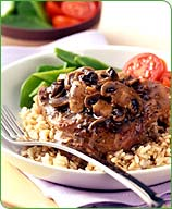 Photo of Pepper-crusted veal with sauteed mushrooms by WW