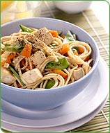 Photo of Japanese noodles with garlic-toasted tofu by WW
