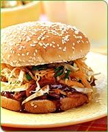 Photo of Slaw-topped pork sandwiches by WW