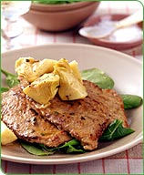 Photo of Veal scallopini with artichokes and tarragon by WW