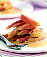 Photo of Sauteed apples with butterscotch-custard sauce by WW