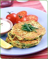 Photo of Zucchini and Soy Cheese Pancakes by WW