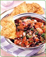 Photo of Black bean salsa with chili-baked chips by WW