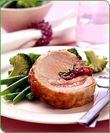 Photo of Roasted pork loin with cranberry sage dressing by WW