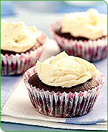 Photo of White-Frosted Cupcakes by WW