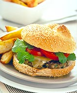 Photo of Cheeseburger with fries by WW