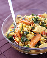 Photo of Curried barley with lentils and chicken by WW