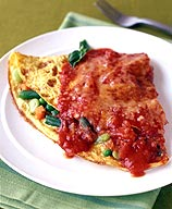 Photo of Marinara-topped veggie omelet by WW