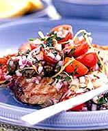Photo of Grilled tuna with fresh tomato salsa by WW